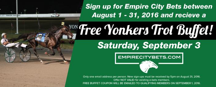Free Yonkers Trot Buffet!